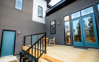 Deck of an Infill Home in Edmonton, Alberta