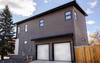 Exterior of an Infill Home in Edmonton, Alberta